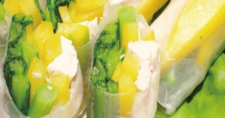 旬の「菜の花」をレンジで簡単クッキング!菜の花の生春巻き