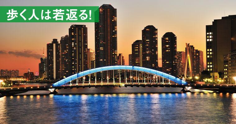 隅田川川辺散策(隅田川テラス)と 橋ものがたり